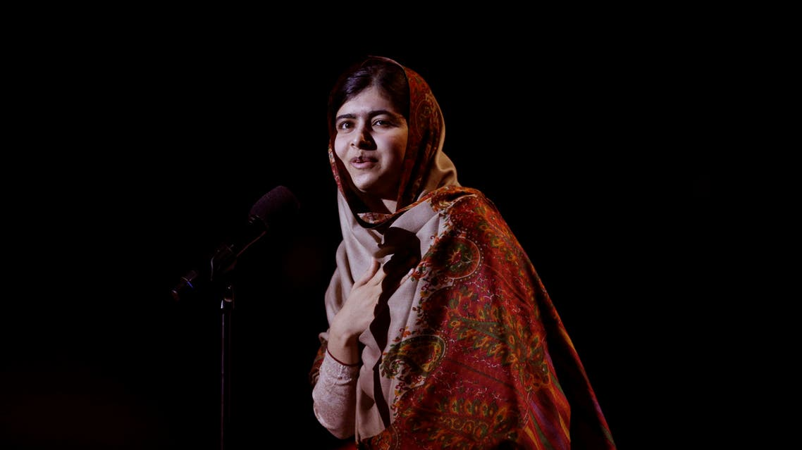 obel Peace Prize winner Malala Yousafzai from Pakistan speaks on stage during the Nobel Peace Prize Concert in Oslo, Norway, Thursday, Dec. 11, 2014. AP