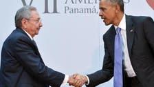 کاسترو۔اوباما فیس ٹو فیس تاریخی مصافحہ
