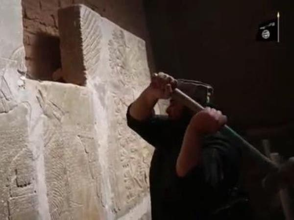 #داعش يبث فيديو تدمير مدينة نمرود الأثرية