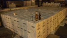 Saudi customs foil attempt to smuggle 19,000 alcohol bottles