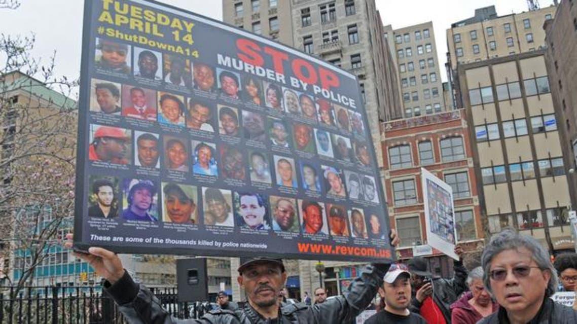 مظاهرة في نيويورك ضد قتل الشرطة الاميركية للشبان السود