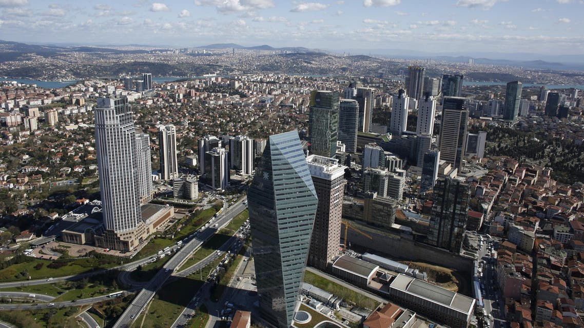 Istanbul's financial district, the Levent district, which comprises of leading Turkish companies' headquarters and popular shopping malls, is seen from the Sapphire Tower in Istanbul April 10, 2015. Turkish President Tayyip Erdogan dreams of transforming Istanbul into a financial hub that can rival Dubai or Singapore, but first he needs to win over would-be investors. Market participants say interest from small investors is on the wane, thanks to higher fees and as new flotations fail to spark interest. That's bad news for an exchange that relies on retail investors for much of its liquidity. It also raises questions about the viability of the government's drive to make Istanbul a global top-10 financial hub. Picture taken April 10, 2015. REUTERS/Murad Sezer