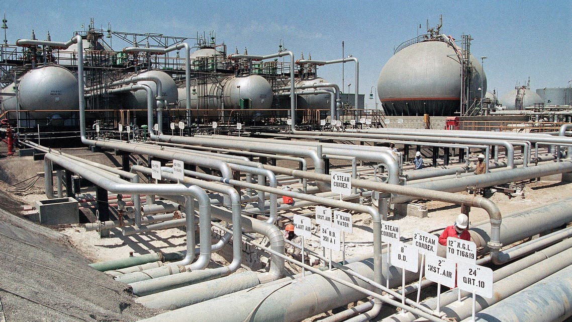 Aramco refinery at Ras Tannura, Saudi Arabia in 1990. (AP Photo)