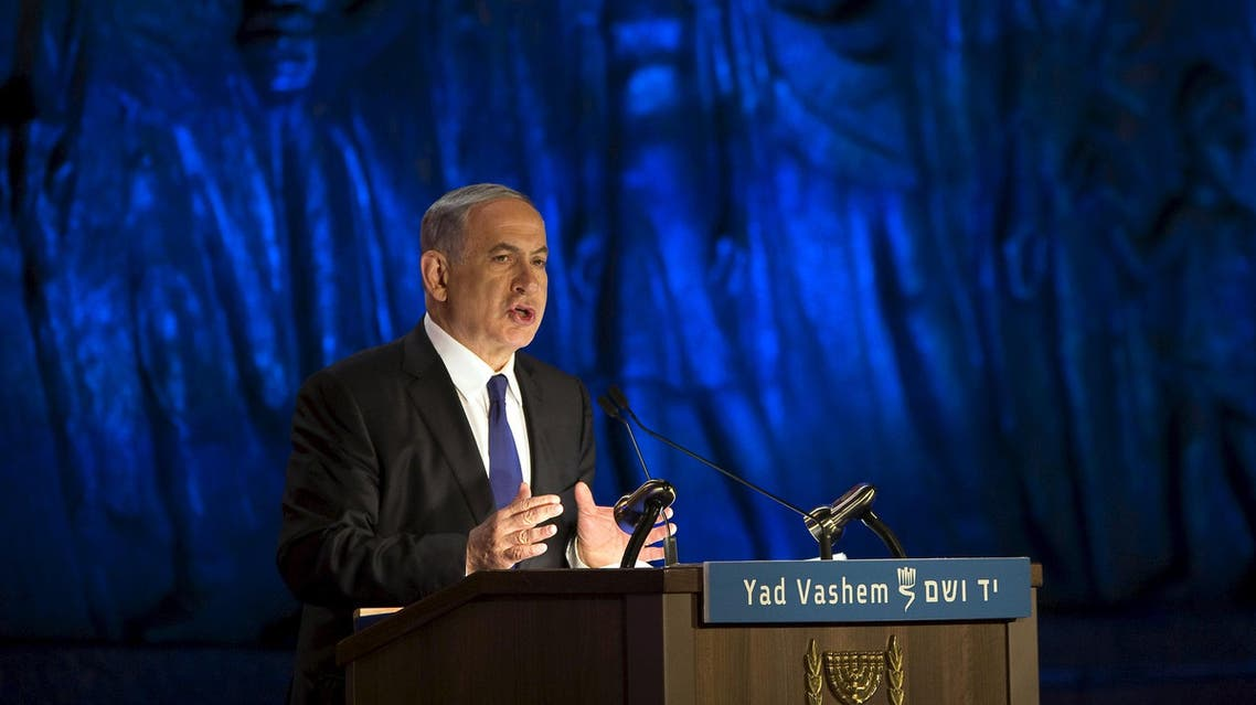 Israel's Prime Minister Benjamin Netanyahu speaks during the opening ceremony of Holocaust Memorial Day at the Yad Vashem Holocaust Memorial in Jerusalem April 15, 2015.  (Reuters)