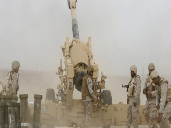 الجيش السعودي يقصف تجمعات الانقلابيين بالشريط الحدودي