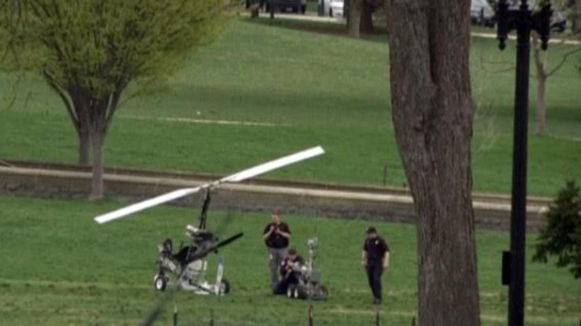 قائد مروحية يهبط في حديقة الكونغرس الأميركي
