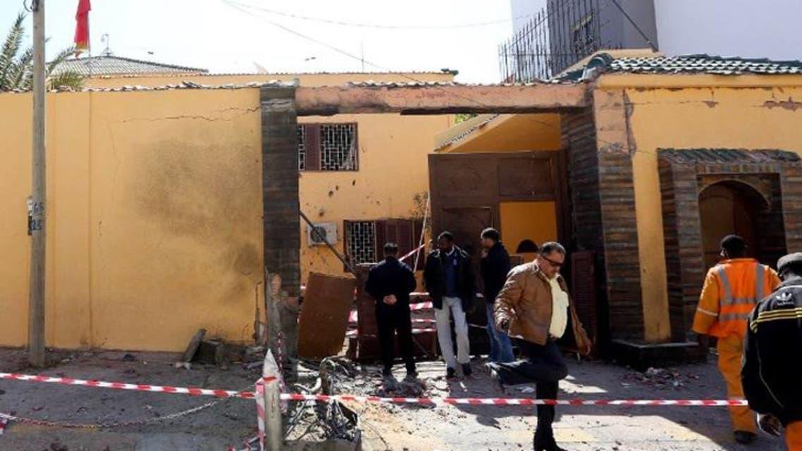 سفارة المغرب طرابلس ليبيا انفجار