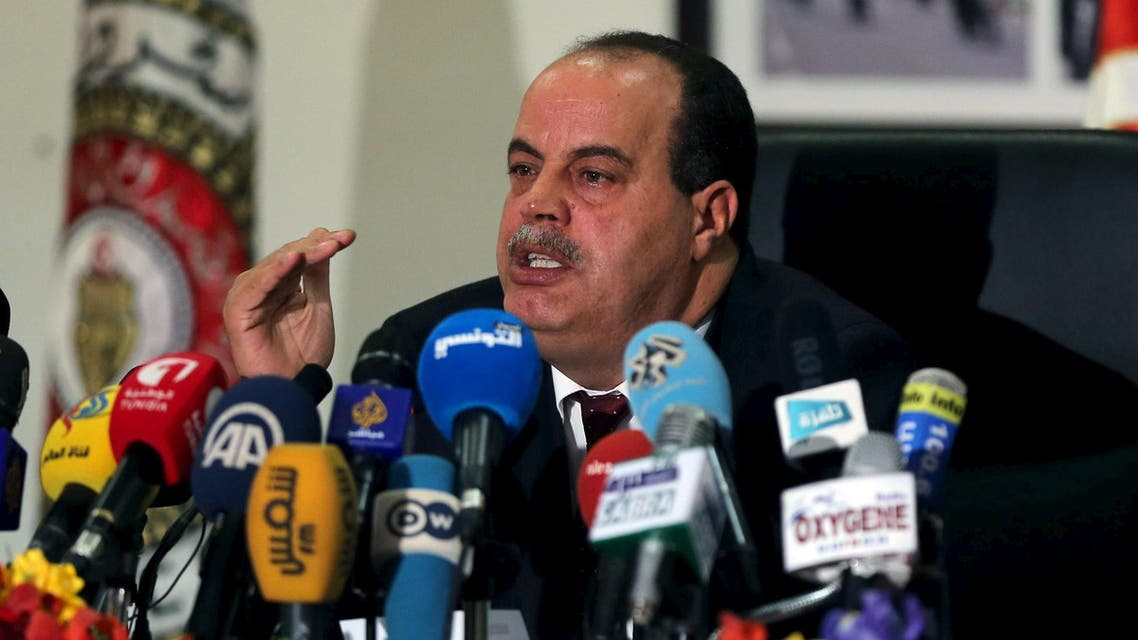 Tunisia's Interior Minister Najem Gharsalli speaks during a news conference in Tunis March 26, 2015. (Reuters)