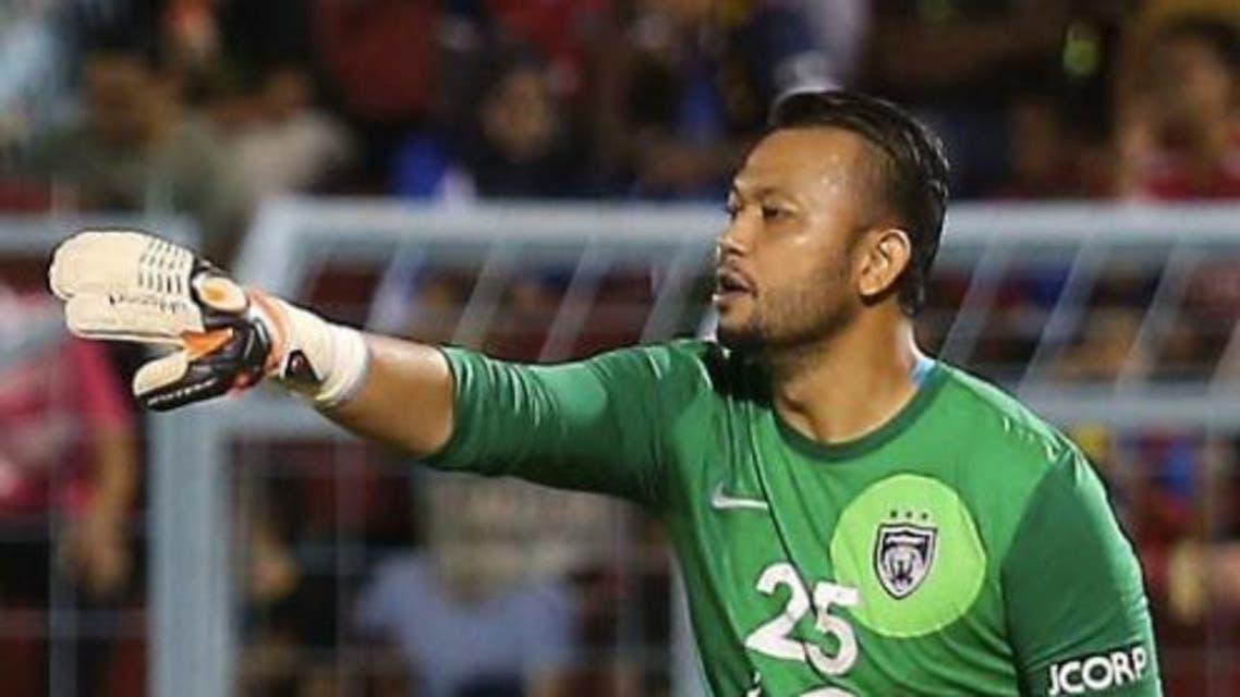 Malaysian champions Johor Darul Ta'zim goalkeeper Mohd Anis Faron Ahmad (Courtesy of cikguazli.com)