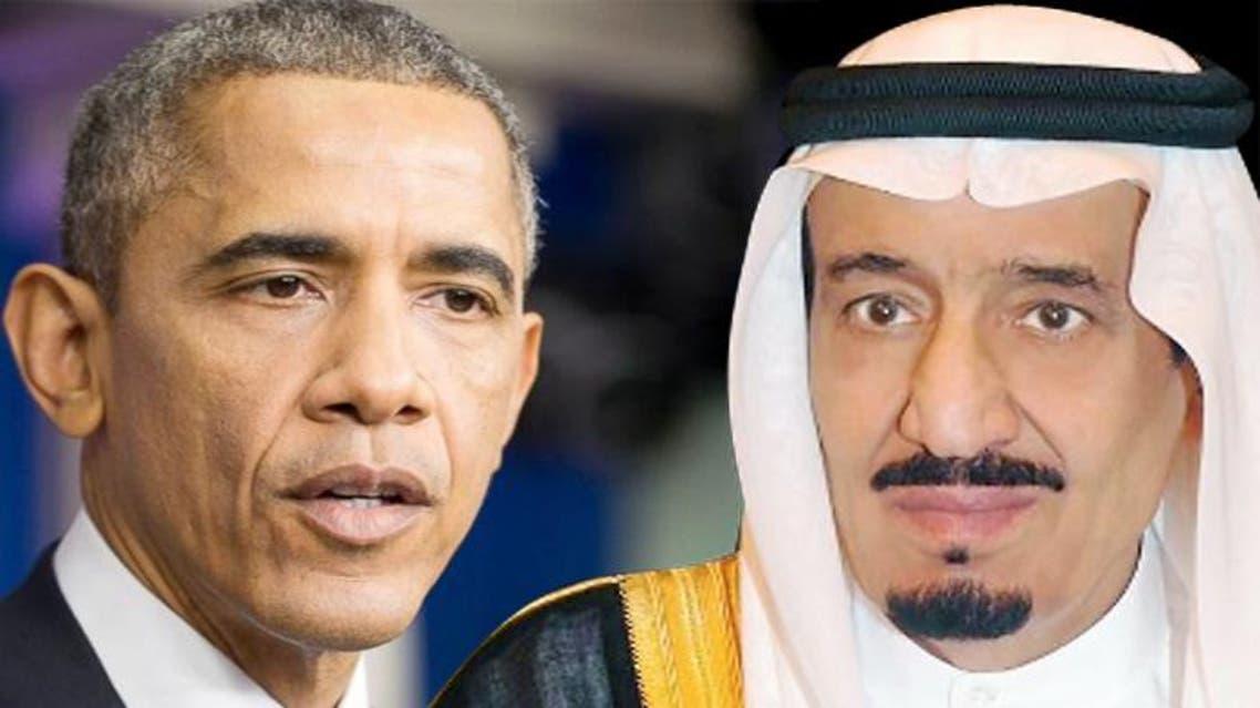 الملك سلمان و اوباما