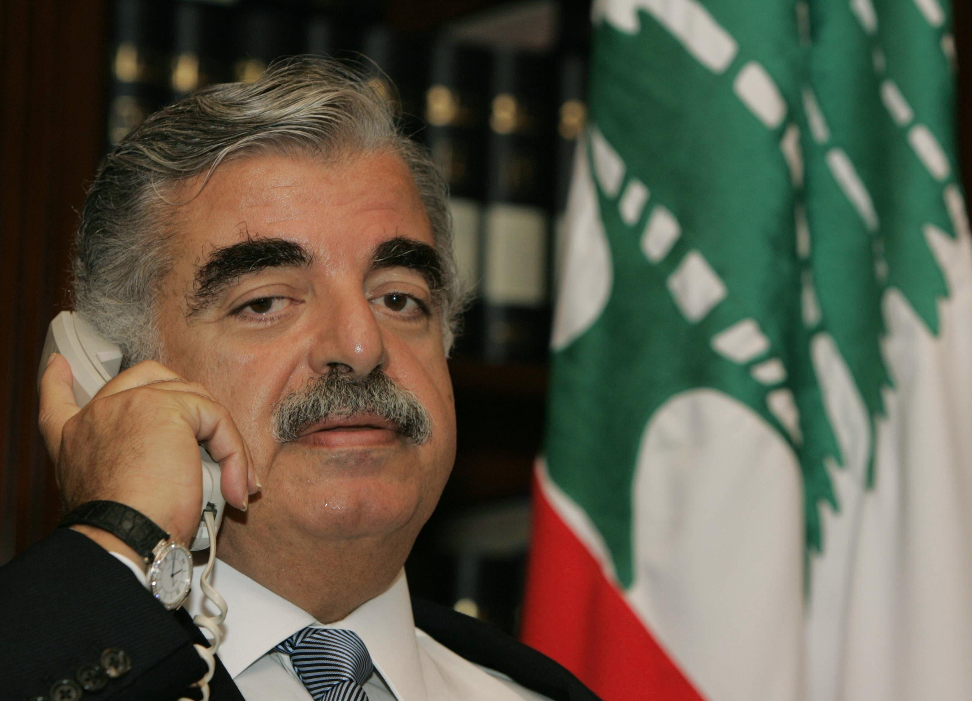 لبنان کے مقتول وزیراعظم رفیق حریری ۔فائل تصویر