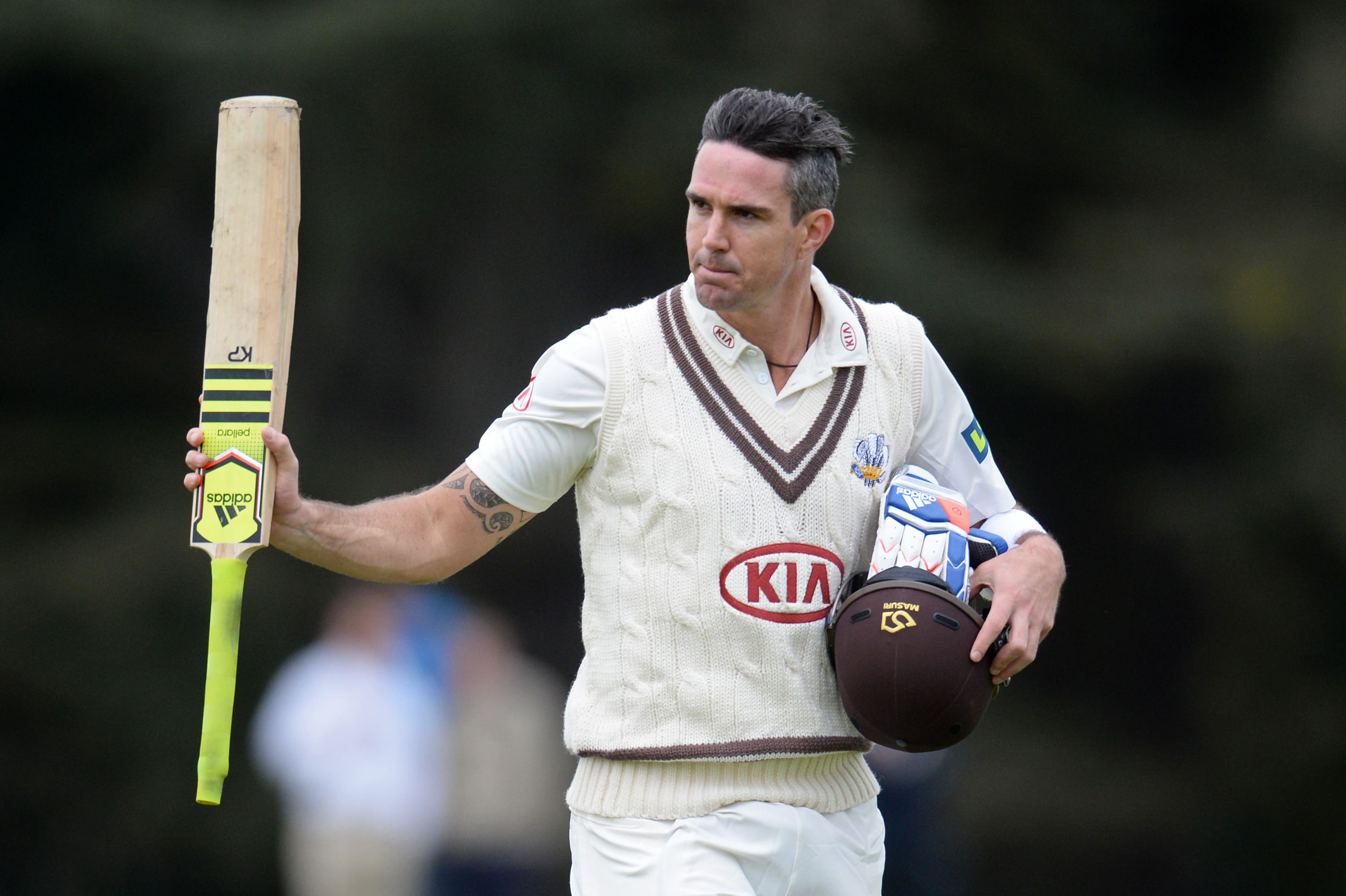 Surrey's Kevin Pietersen leaves the field after being dismissed Reuters / Philip Brown Livepic