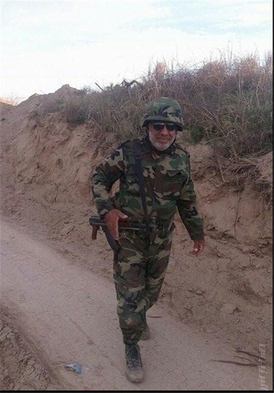 حبيب جنّت مكان في العراق بزي الجيش العراقي