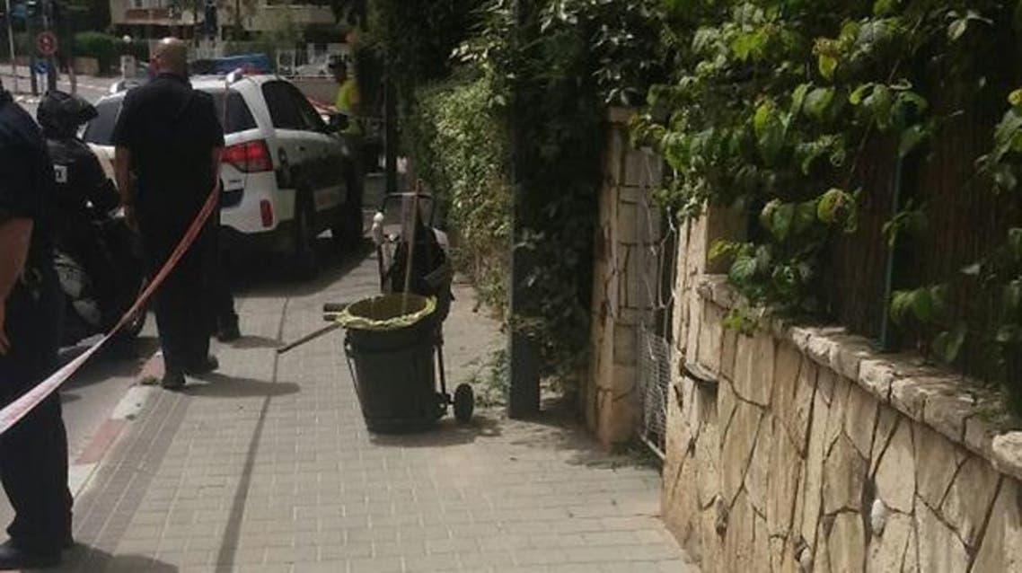 Scene of the stabbing in the town of Herzliya in Israel. (Photo courtesy: Ynetnews.com)