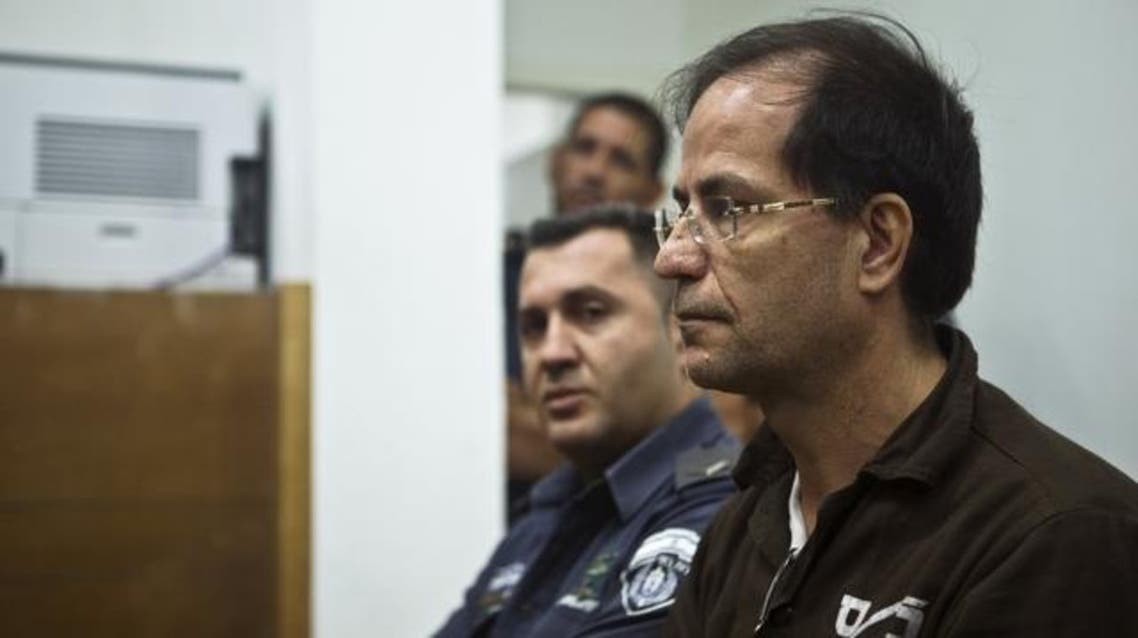 Ali Mansouri, a Belgian-Iranian dual national, sits in a courtroom at the magistrate's court in Petah Tikva near Tel Aviv. (File: Reuters)