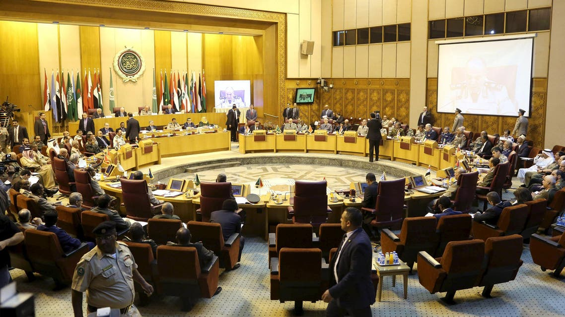 A general view of the start of the Arab defence ministers meeting in Cairo at the Arab League headquarters, April 22, 2015. (Reuters)