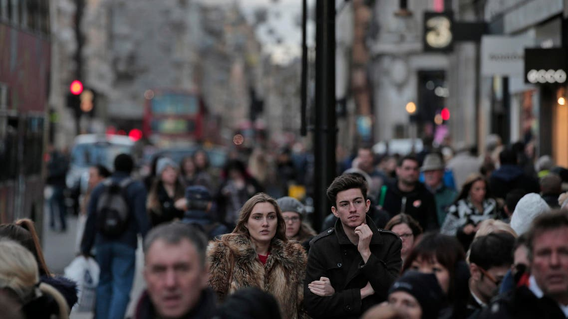 Pedestrians walk in central London's Oxford Street, where the leaflets were handed out (File photo AP)