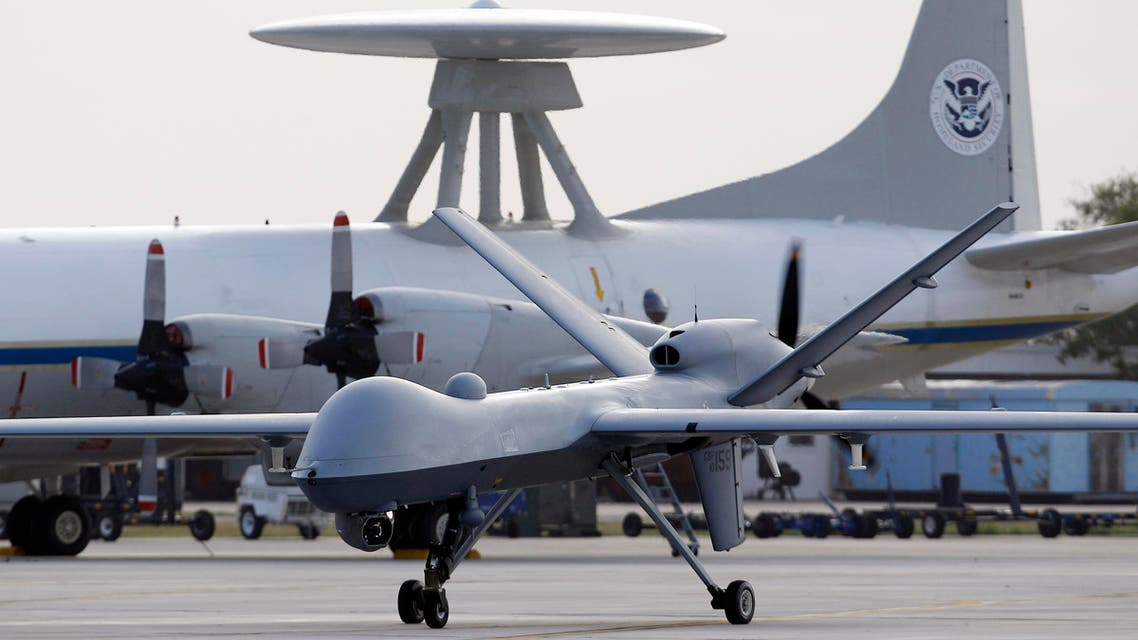In this Nov. 8, 2011 file photo, a Predator B unmanned aircraft taxis at the Naval Air Station in Corpus Christi, Texas. AP