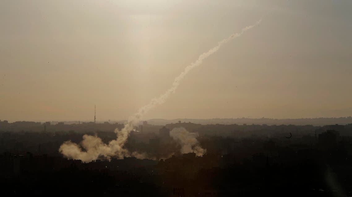A rocket is fired from Gaza City towards Israel, Saturday, Aug. 9, 2014. file photo: AP