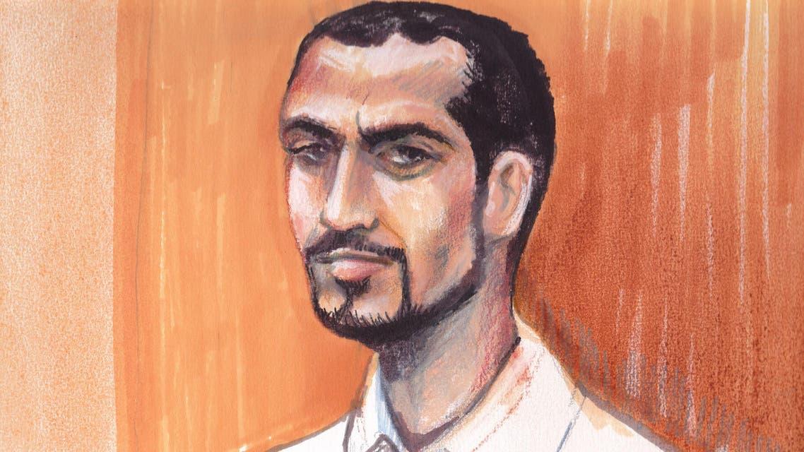 An artist's drawing of Omar Khadr (AP)