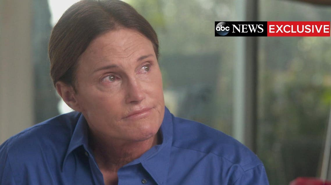 Handout shows Bruce Jenner during a two-hour interview with ABC News anchor Diane Sawyer that aired as a special edition of ABC News