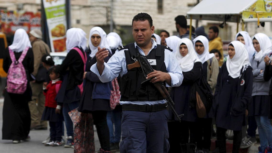 Palestinian police Reuters