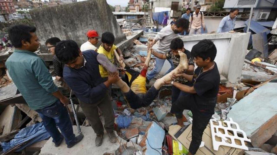 زلزال قوي هز النيبال