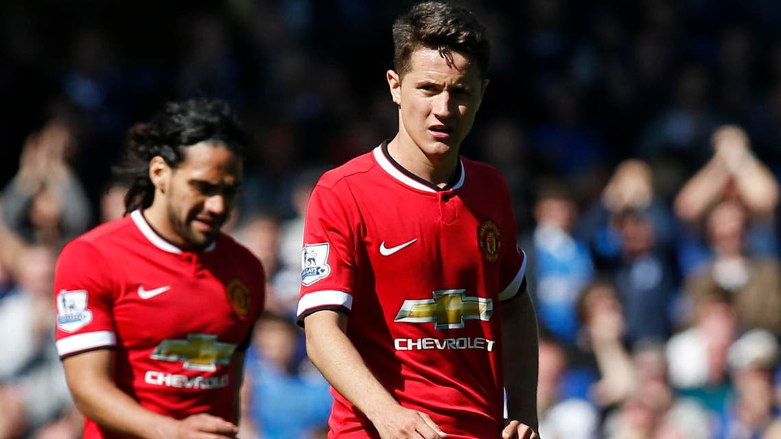 Manchester United's Ander Herrera walks off dejected at full time Reuters
