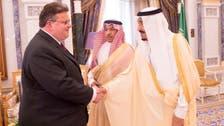 Saudi King Salman meets with Lithuanian FM in Riyadh