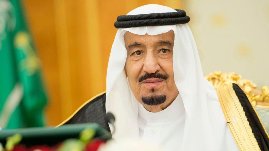 الملك سلمان خلال جلسة الوزراء