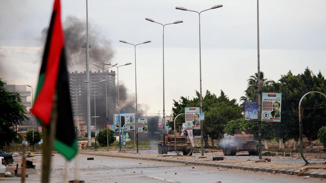 In this 2014 file photo, smoke rises during clashes between the Libyan military and Islamic militias in Benghazi, Libya. (File Photo: Libya)