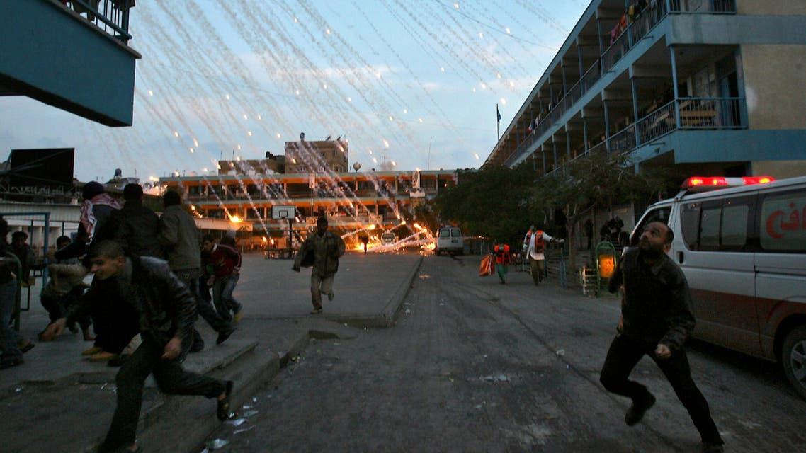 قصف مدرسة بغزة