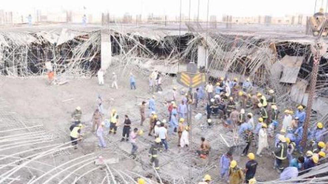 Building collapse Saudi Gazette SPA