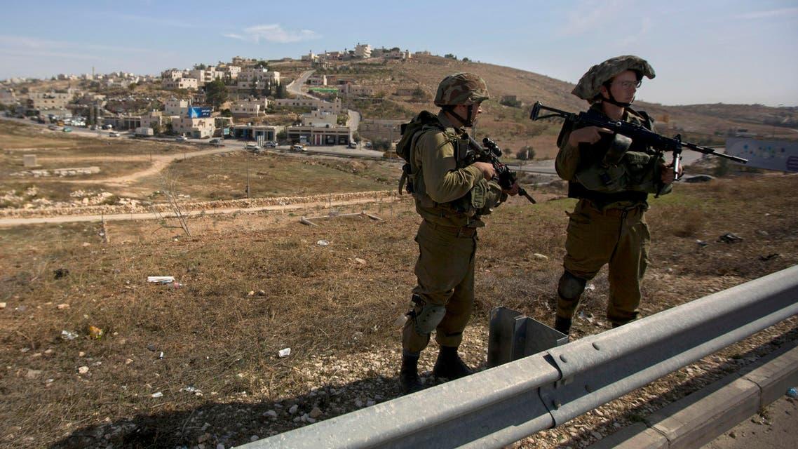 Israeli police west bank barrier
