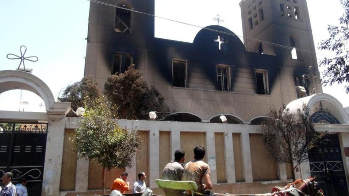 church burning in Egypt