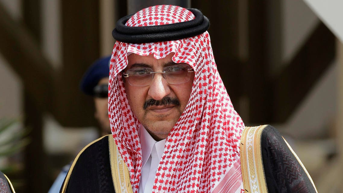 In this Monday, May 14, 2012 photo, Saudi Arabia's Interior Minister Prince Mohammed bin Nayef waits for Gulf Arab leaders ahead of the opening of Gulf Cooperation Council, also known as GCC summit, in Riyadh, Saudi Arabia. (AP)
