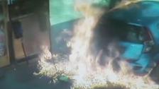 No smoke without fire: woman lights Israel petrol pump