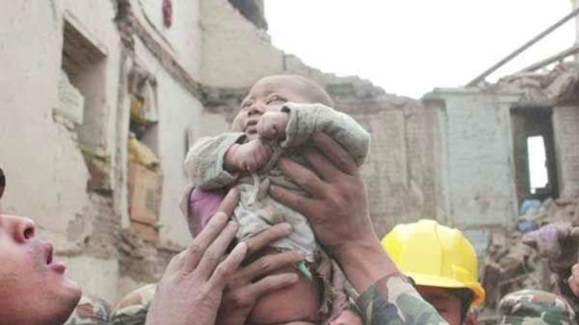 nepal baby earth quake (Photo courtesy: Kathmandu Today)