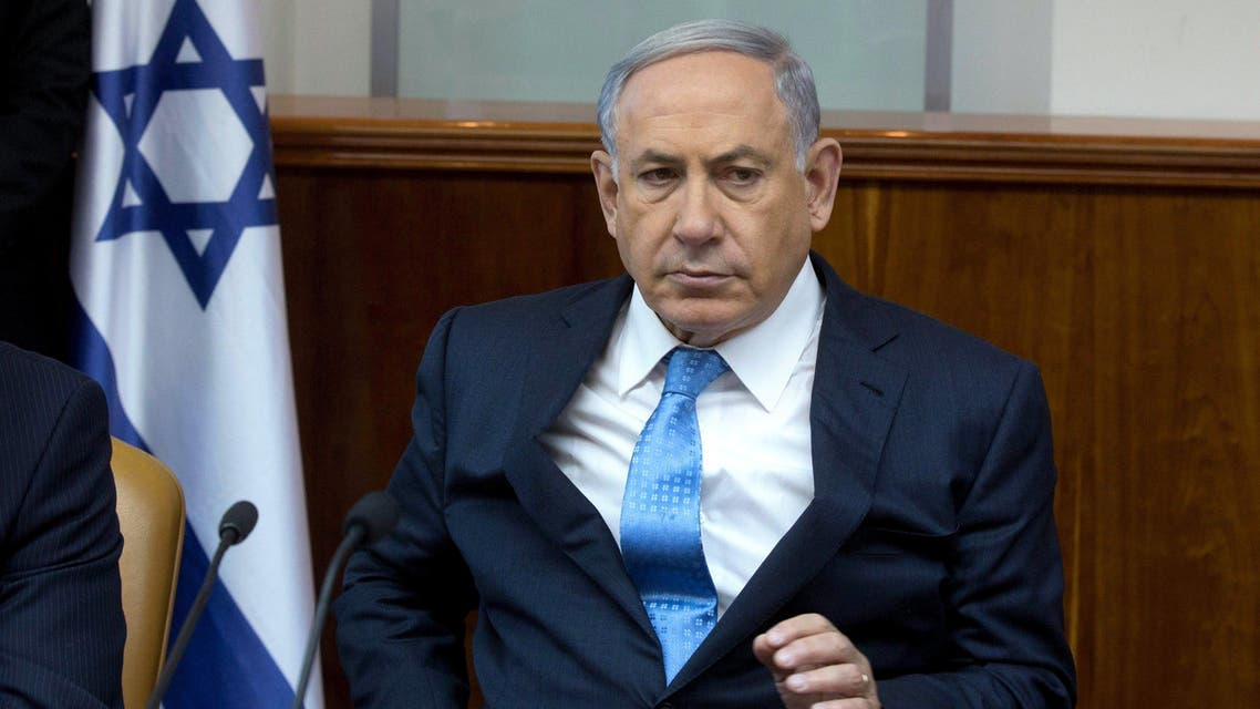 Israeli Prime Minister Benjamin Netanyahu attends the weekly cabinet meeting at his office in Jerusalem April 19, 2015. (File: Reuters)
