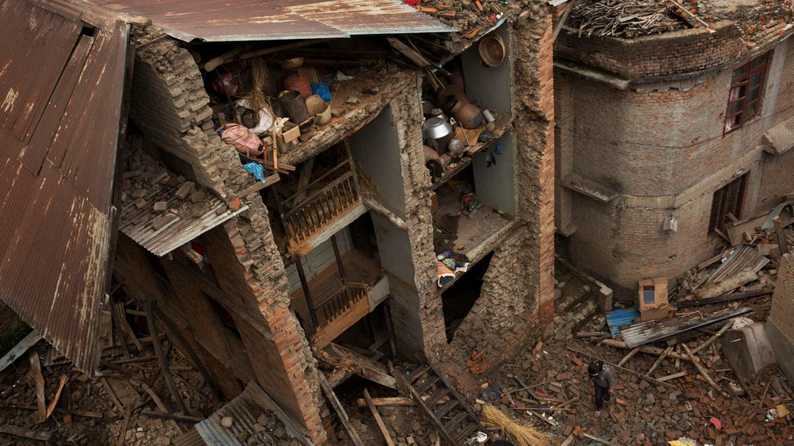The death toll currently stands at 5,500 with many more injured. But it is expected the number of dead is likely to soar to at least 10,000 people (AP)