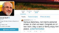 U.S. senator and Iran foreign minister face off on Twitter