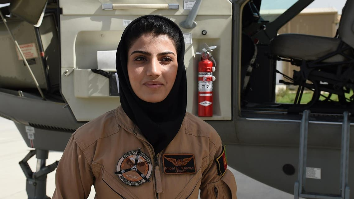 Afghanistan's first female pilot defies threats