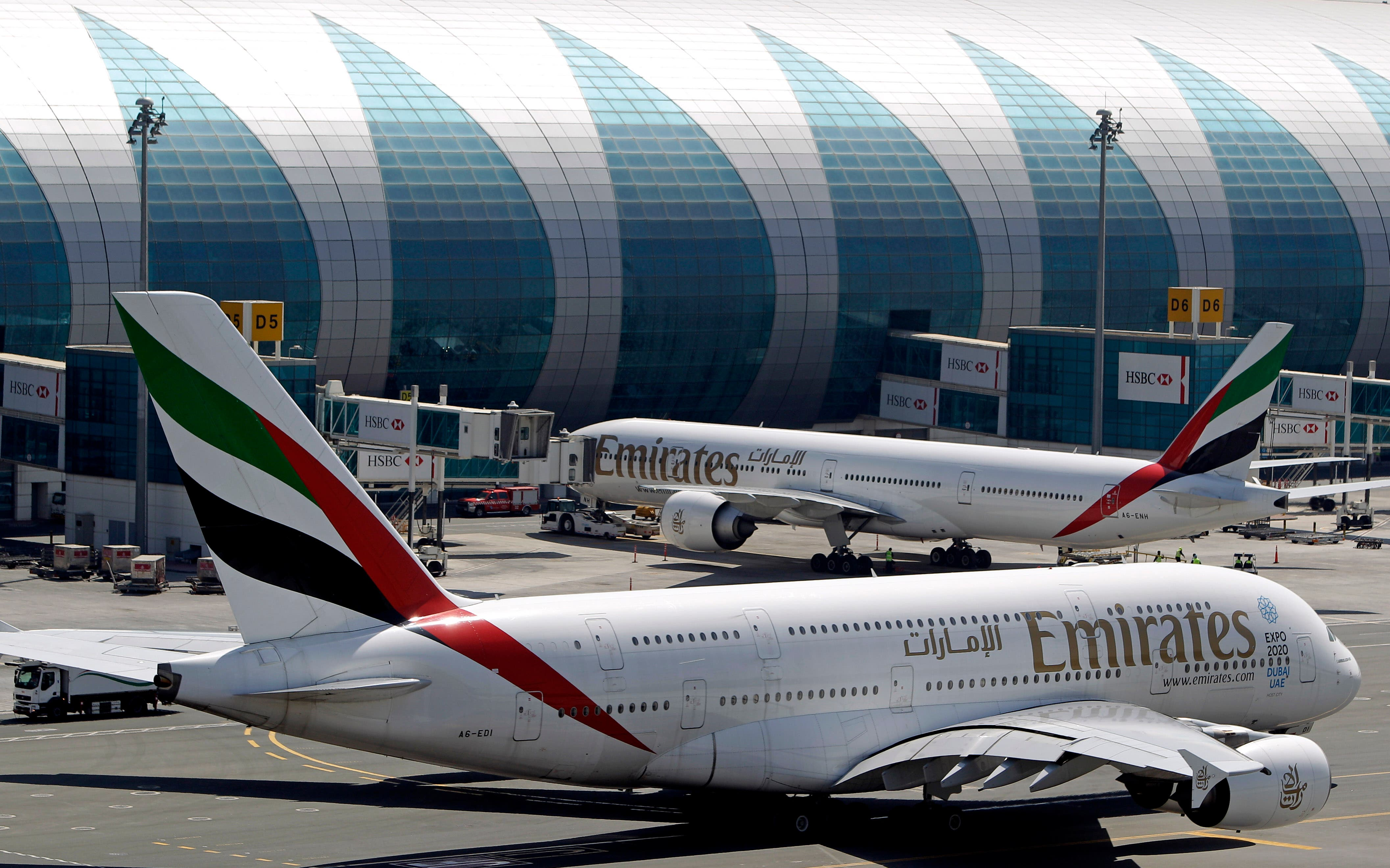 Emirates passenger planes are parked at their gates at Dubai airport in United Arab Emirates, Thursday, May 8, 2014. (File: AP)