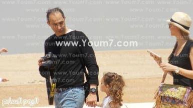 بالصور.. جمال مبارك يصطحب أسرته في جولة بالأهرامات