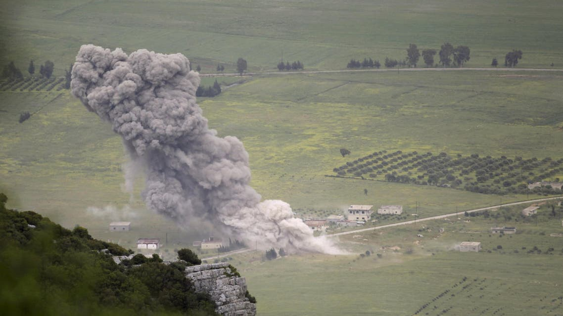 غارة لقوات الأسد على ريف حماة (أرشيفية)