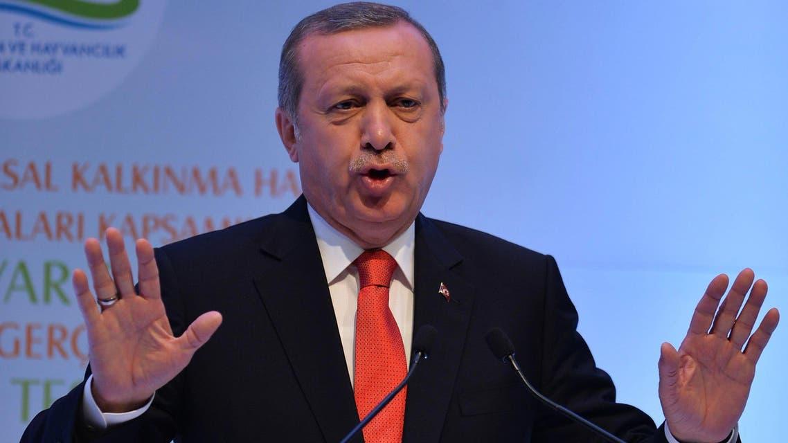 Turkish President Recep Tayyip Erdogan speaks during a meeting on April 29, 2015 in Ankara.  (AFP)