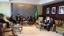 Syrian opposition leader meets with Saudi U.N. envoy