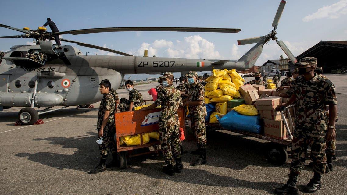مساعدات إنسانية في نيبال