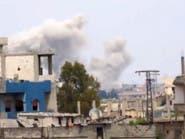 طيران الأسد يقصف تلبيسة بريف حمص بالبراميل المتفجرة