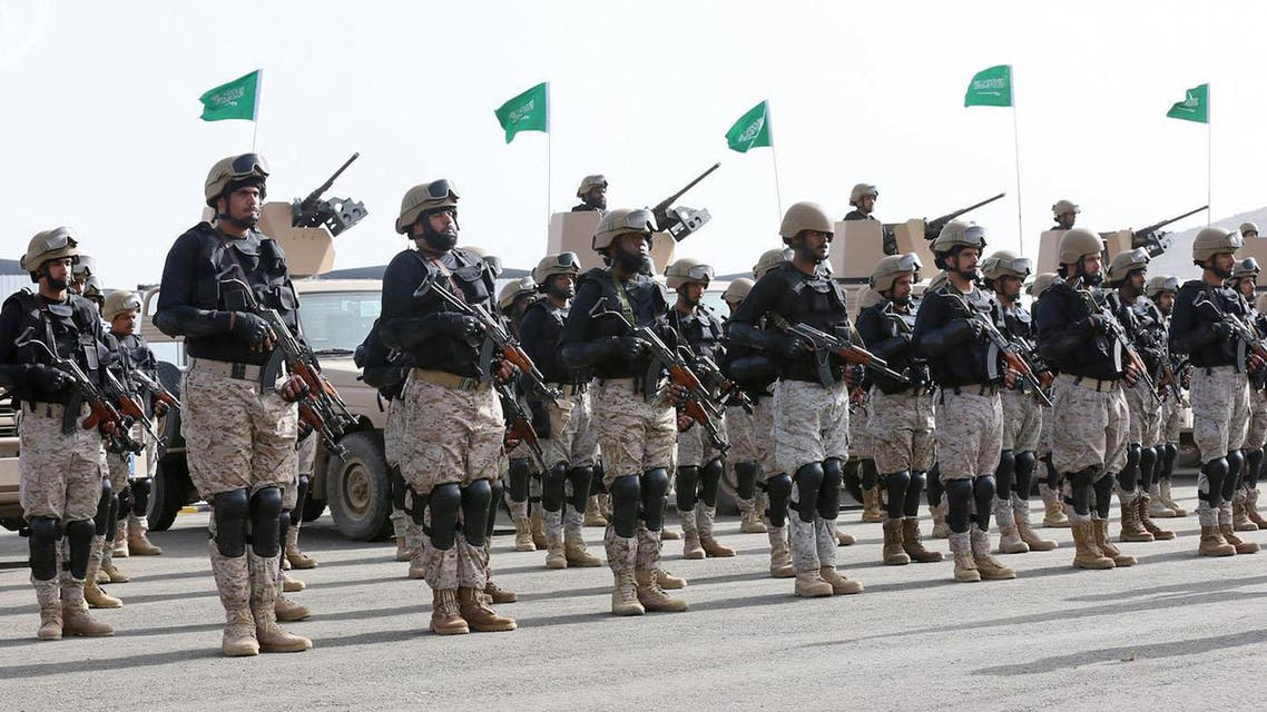 In this photo provided by the Saudi Press Agency (SPA), Royal Saudi Land Forces and units of Special Forces of the Pakistani army take part in a joint military exercise. (AP)